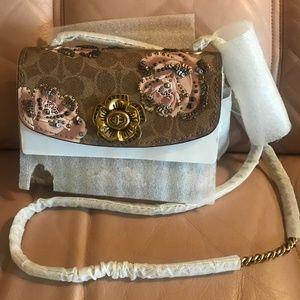 COACH Parker Embellished Floral Shoulder Bag NWOT